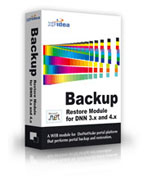 Database and Site Backup / Restore Module for DotNetNuke 4.x (download)